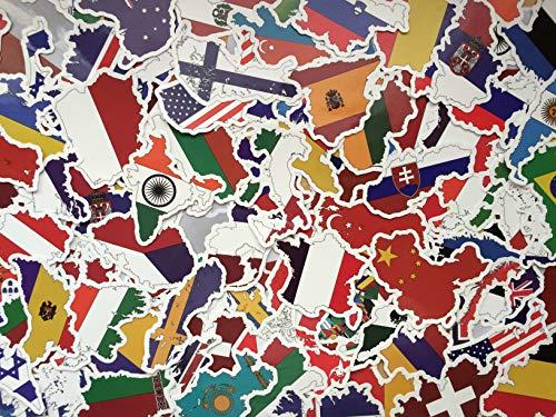 eber, Land, Fahnen, Länderform Stickers Set, Welt, Europa, globus, viel Aufkleber, Reise, Erinnerungen, Koffer (50) ()