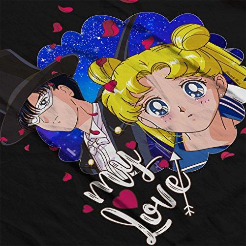 Sailor Moon My Love Men's Hooded Sweatshirt Black