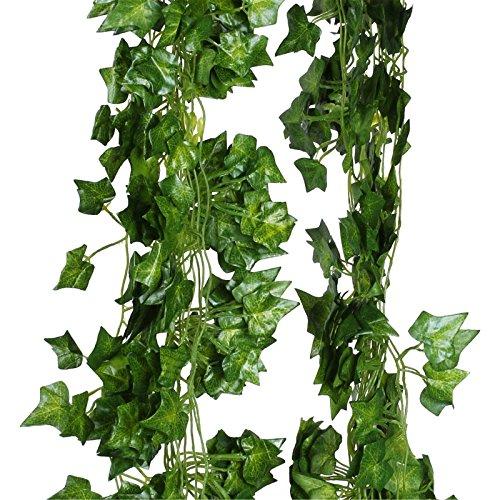 vlovelife Greenery Girlande, künstlicher Efeu auf die Pflanzen Vine Fake Blattwerk Blumen Home Garten Hochzeit Party Decor 5Stück, Sleaf, 5 Stück - Blume Home Decor