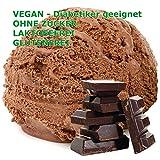 Bitterschokolade Geschmack Eispulver VEGAN - OHNE ZUCKER - LAKTOSEFREI - GLUTENFREI - FETTARM, auch für Diabetiker Milcheis Softeispulver Speiseeispulver Gino Gelati (Bitterschokolade, 1 kg)