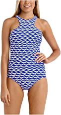Kaamastra Tidal Wave High Neck One Piece Maillot LC41854-5_Blue_Freesize