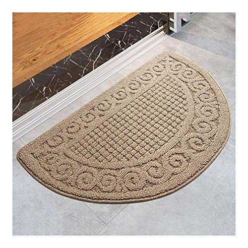XY399 degrees Fußmatte rutschfeste Matte Duschmatte Half Moon Fußmatte Dekorativer Teppich Rückseite aus Latex Rutschfester Eingang Fußmatte Teppich for Schlafzimmer Badezimmer Küche