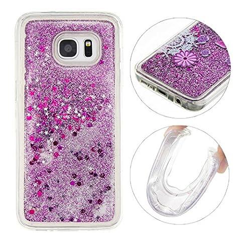 Coque Samsung Galaxy S7 Edge G9350 Liquide Sables Mouvants Violet(5.5
