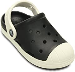 crocs Kids Unisex Bump It Black/Oyster Clogs