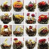 Pixnor Fiori di Tè Premium cinese artistico fioritura fiore tè sfera verde