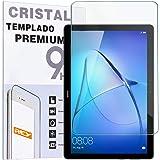 """REY Protector de Pantalla para Huawei MEDIAPAD T5 10.1"""", Cristal Vidrio Templado Premium, Táblet"""