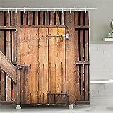 WENSDAO Badezimmer Duschvorhang Polyester Wasserdicht Mehltau mit Verstärktem Saum waschbarer Anti-Schimmel für Badezimmer Badewanne