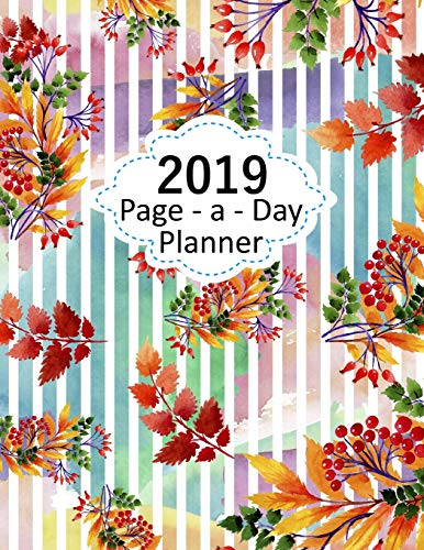 Page A Day Planner 2019: 365 Pages Large Diary Journal 8.5