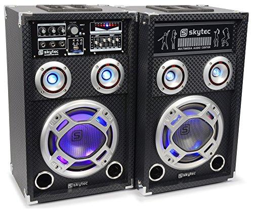 Skytec KA-06 - Kit bafle karaoke con luces
