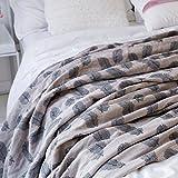 Mantas suaves de algodón delgada delgada doble primavera, verano y otoño Manta de siesta Manta de...
