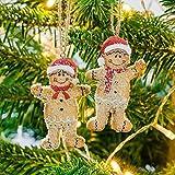The Christmas Boutique Christbaumschmuck Herr & Frau Lebkuchen aus Kustharz