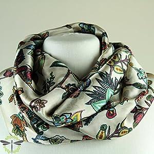 Loop-Schal Damen SEIDE Paisley –