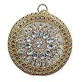 MQW Rotonda del Diamante di Colore Elegante Sera Sacchetto del Pranzo di Modo delle Signore Hand Strass Catena del Cinturino Dell'orologio Bracciale Spalla Festa di Nozze Regali di Bello e al