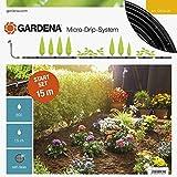 GARDENA Start Set Pflanzreihen S: Micro-Drip-Gartenbewässerungssystem zur schonenden, wassersparenden Bewässerung von Reihenpflanzungen (13010-20)