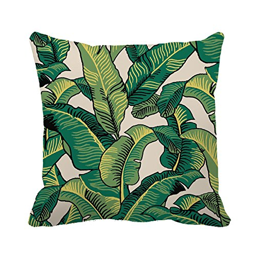 yinggouen-banana-leaves-decorate-for-a-sofa-pillow-cover-cushion-45x45cm