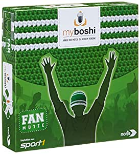 noris spiele 606311348 my boshi fan m tze in den vereinsfarben gr n wei spielzeug. Black Bedroom Furniture Sets. Home Design Ideas