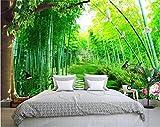 Weaeo Benutzerdefinierte 3D Foto Tapete Bettwäsche Zimmer Wandbild Fliegen Taube Bambus Wald 3D Malerei Sofa Tv Hintergrund Wall Wallpaper Für Die Wand 3D-200X140Cm