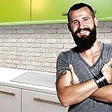 StickerProfis Küchenrückwand Selbstklebend Premium GEKALKTE Wand 60 x 280cm DIY - Do It Yourself PVC Spritzschutz