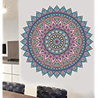 Colourful Mandala Pattern Wall Sticker - Living Room Kitchen Bedroom Decal Mural Transfers - EXTRA LARGE - 88cm x 88cm - SELECT SIZE BELOW