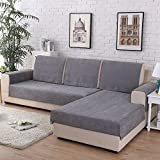 HM&DX Waterproof Sofa Cover For Pets Dog Sectional Couch Anti-slip Water Resistant Stain Resistant Multi-size Sofa Cover Slipcover Furniture Protector -Sold by Piece-grey 90x90cm(35x35inch)
