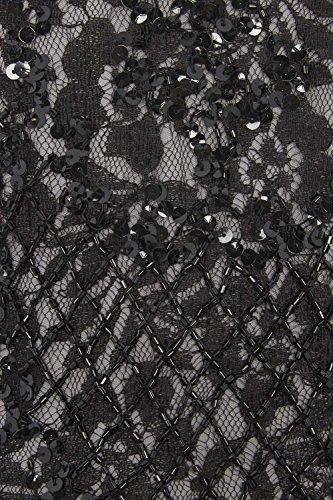 Roman Originals - Robe Premium Sans manches Dentelle et Sequins - Noir Noir