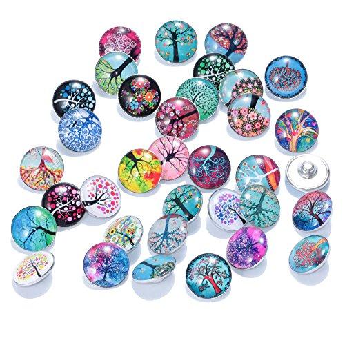 soleebee-rbol-de-la-vida-de-aleacin-de-cristal-18-mm-Snap-botones-joyera-charms-pack-de-36pcs