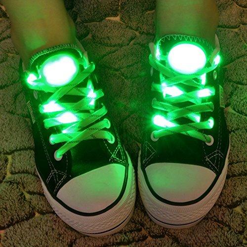 Pet Leso® 1 Paar LED Nylon Leuchten Spitzeen Blinkende Spitzee -Grün (Und 60 Halloween-kostüme Schnelle Einfache)
