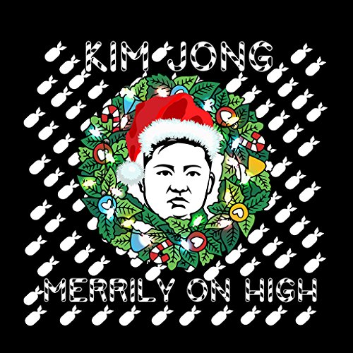 Kim Jong Merrily On High Kim Jong Un Christmas Womens Sweatshirt Black