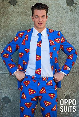 Opposuits Superman Anzug SlimFit 3teilig - Gr. 62
