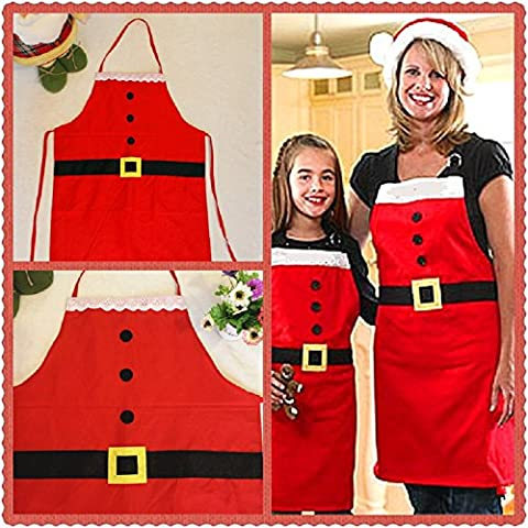 XJoel Feiertags-Thema-Rüsche-Schürze Küche-grundlegende erwachsene Sankt-Schürze (Kellnerin Kostüm Kind)