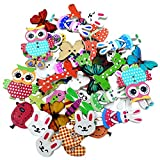 #3: Generic Pack of 50 Colorful Assorted Animals Wooden Decorative Buttons for Sewing and Crafts