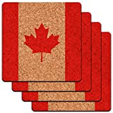 Kanada National Land Flagge Low Profile Cork Untersetzer Set