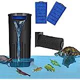 Filtro de tortuga de acuario Filtro de nivel de agua bajo flujo de cascada Filtro sumergible Bomba limpia para tanque de pece