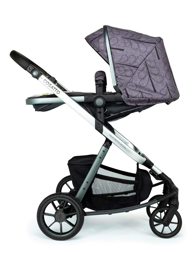 Cosatto Giggle Quad Pram & Pushchair Fika Forest Cosatto Enhanced performance. unique tyre material and all-round premium suspension give air-soft feel. Comfy all-round. spacious carrycot for growing babies.  washable liner. reversible reclining seat. Ultimate buy. tested up to a mighty 20kg for even longer use. big 3.5kg capacity basket for big shop 5