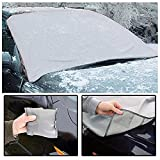 KEPLIN® Magnetic Windscreen Cover Frost Windshield Snow All Weather Cover With Dust Protector Pouch