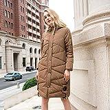 TT&FUSHI Herbst und Winter Damen waren dünne Kapuze Baumwolle langen Abschnitt dicke dicke dicke Jacke , khaki , xxl