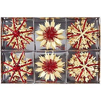 40x Strohsterne  Stroh Sterne mit Glitzerapplikationen Weihnachtssterne Deko