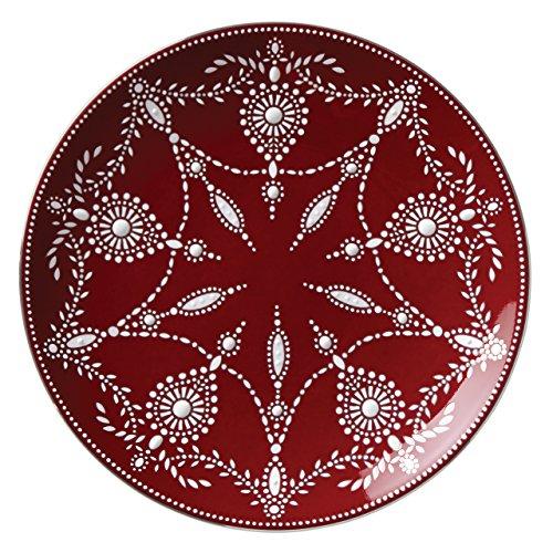 Lenox Marchesa Empire Pearl Akzentteller Traditionell wein Lenox Pearl Platinum Bone China
