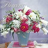 Flowers 2019: Broschürenkalender mit Ferienterminen. Blumen-Vielfalt. 30 x 30 cm - Wandkalender