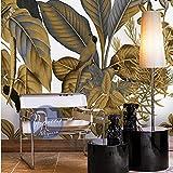Poowef 3d Wallpaper der Südostasiatischen Luxus wallpaper murals Schlafzimmer Büro overalls Zimmer Hintergrund Tapete tropischen Pflanzen