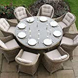 Maze Rattan All Weather 8 Seater Outdoor Winchester Garden Furniture Dining Set
