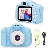 VILHOZ Kids Camera, Digital Camera Toddler Video Recorder Shockproof Rechargeable Selfie Camcorder 1080P for 3-12 Year…