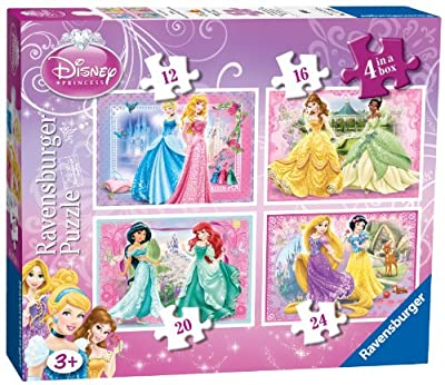 Ravensburger 7318 - Juego de 4 puzzles, diseño de Princesas Disney por Ravensburger