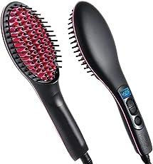 F 4 FASHION'S Simply 2 In 1 Ceramic Hair Straightener Brush …