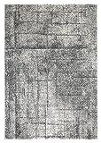 andiamo Webteppich Designteppich Florteppich Musterteppich – Wohnzimmer Schlafzimmer Flur Essbereich – Polypropylen schadstofffrei umkettelt weich strapazierfähig langlebig pflegeleicht – 200 x 290 cm grau