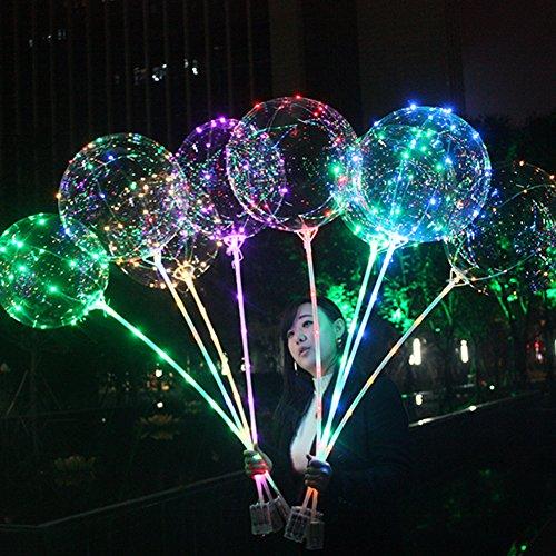 Somedays 18-Zoll-Ball Ball transparent Ball Ball 18-Zoll-Ball Ball mit Licht Innenbar ktv Zubehör Geburtstagsparty Hochzeit Verlobungsfeier liefert (5 Stück) -