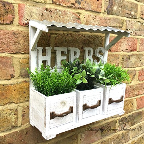 Large 1 Metre Wooden Garden Planter Box Trough Herb: Wall Planter Box: Amazon.co.uk