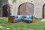 greemotion Lounge Set GOA-Loungemöbel aus Akazien Holz-Garnitur 3 teilig für Garten & Terrasse-Outdoor - 7