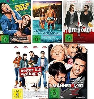 Elyas M´Barek Spielfilm Set 1 (Fack ju Göhte, Türkisch für Anfänger, Offroad, Heiter bis wolkig, Männerhort) - Deutsche Origina