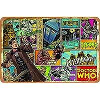 Doctor Who Cartel de Chapa Retro, Cartel de Pared, Placa de Metal Vintage, Garaje, Oficina, Bar, cafetería, decoración, 20 × 30 cm